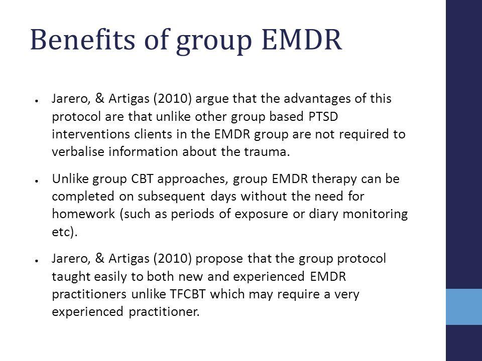 Benefits of group EMDR