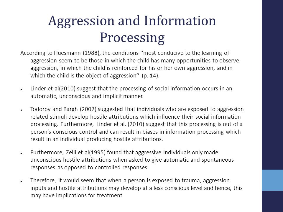 Aggression and Information Processing