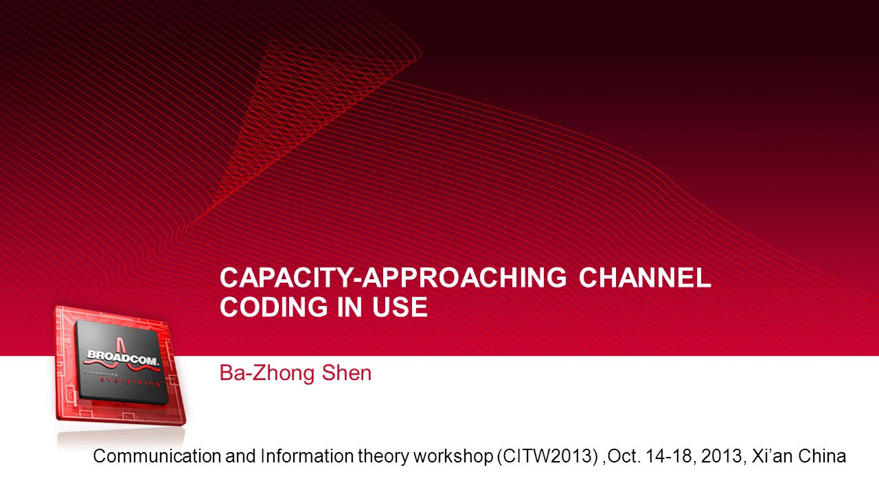 Capacity-approaching channel coding in use