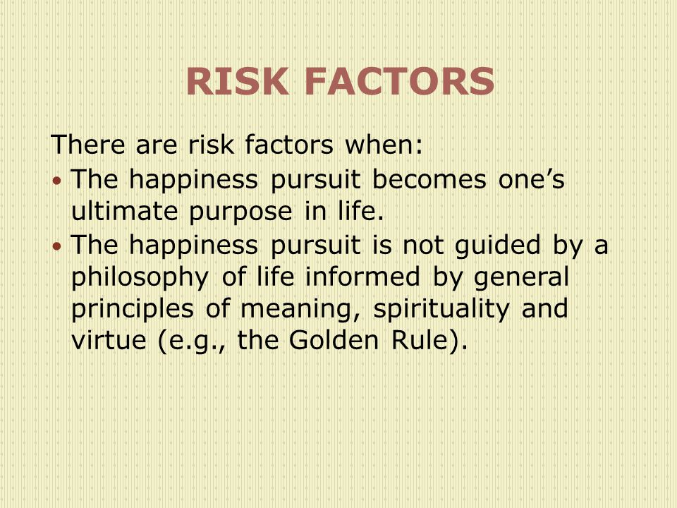 RISK FACTORS There are risk factors when: