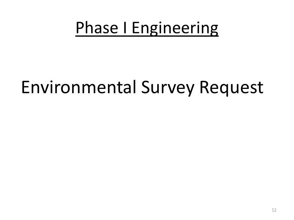 Environmental Survey Request