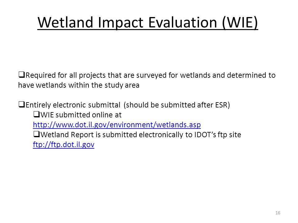 Wetland Impact Evaluation (WIE)
