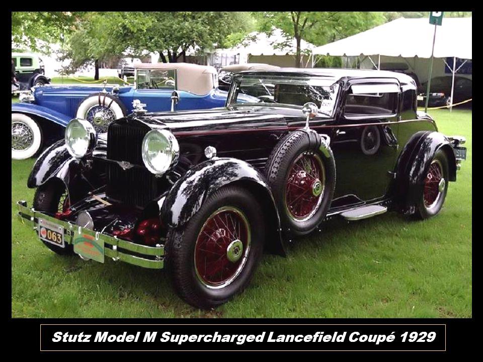 Stutz Model M Supercharged Lancefield Coupé 1929