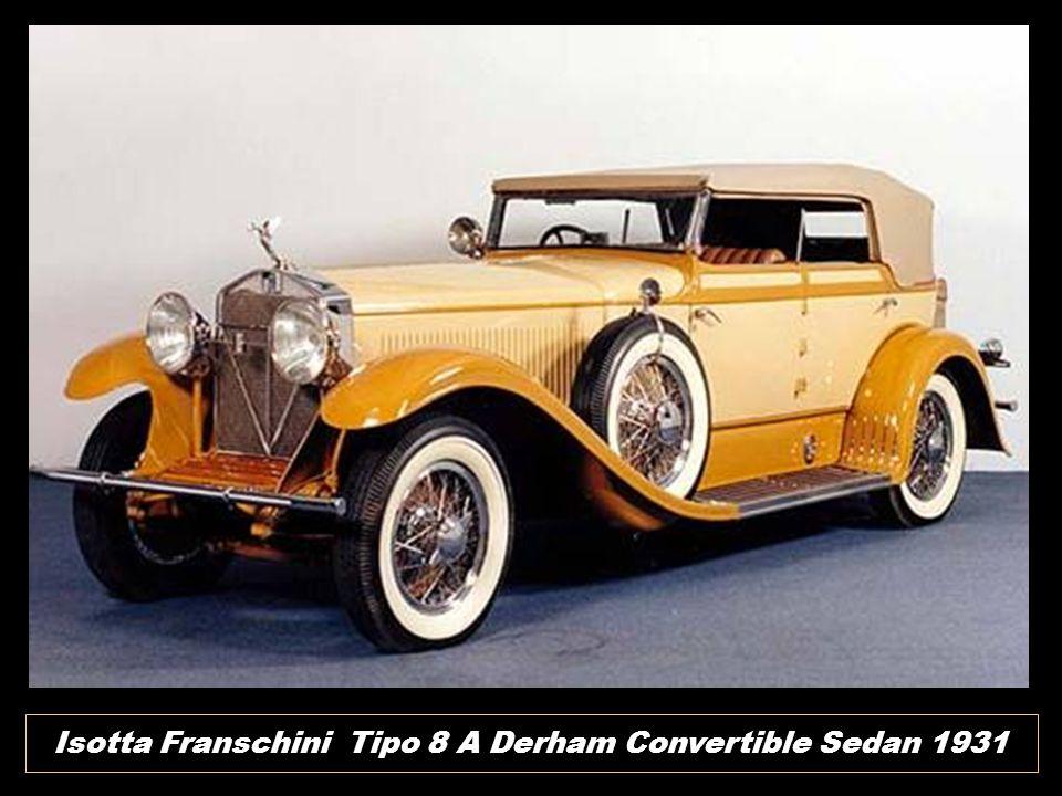 Isotta Franschini Tipo 8 A Derham Convertible Sedan 1931