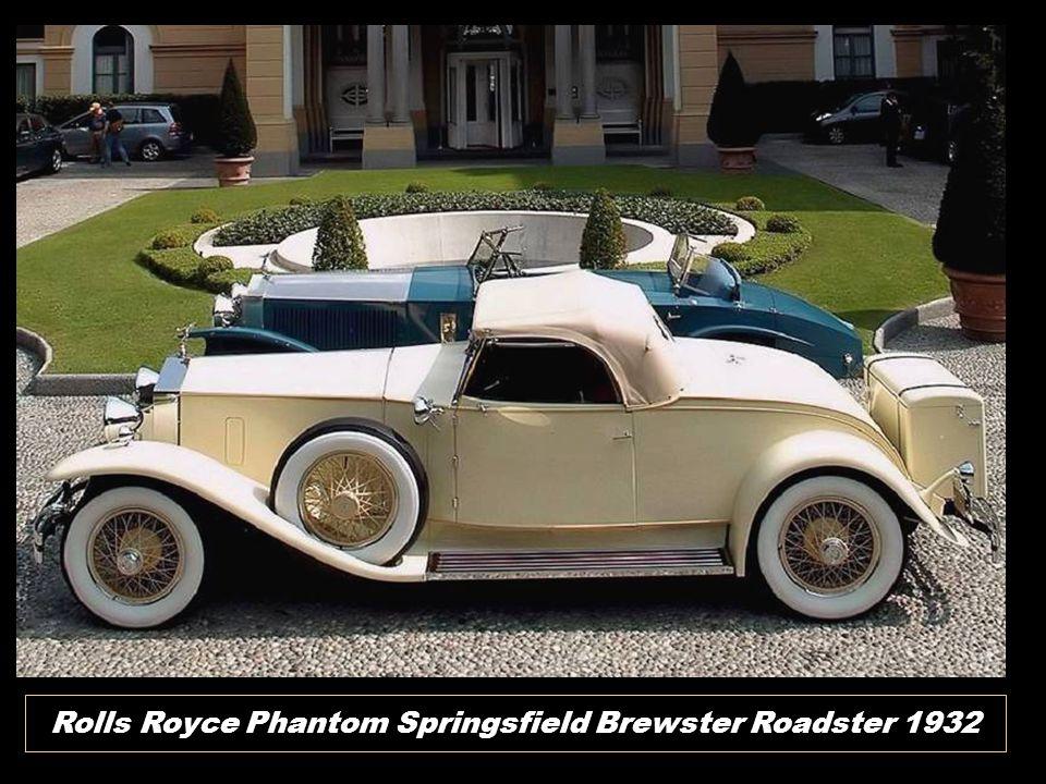 Rolls Royce Phantom Springsfield Brewster Roadster 1932