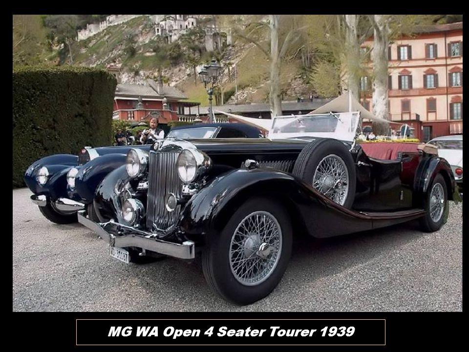 MG WA Open 4 Seater Tourer 1939