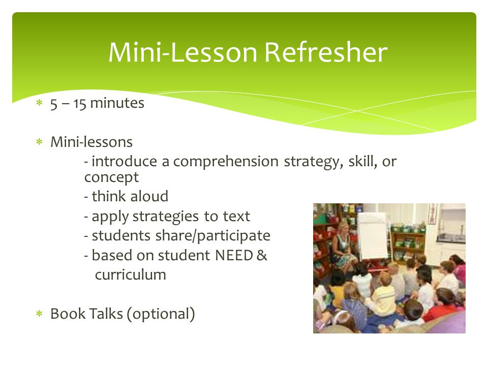 Mini-Lesson Refresher