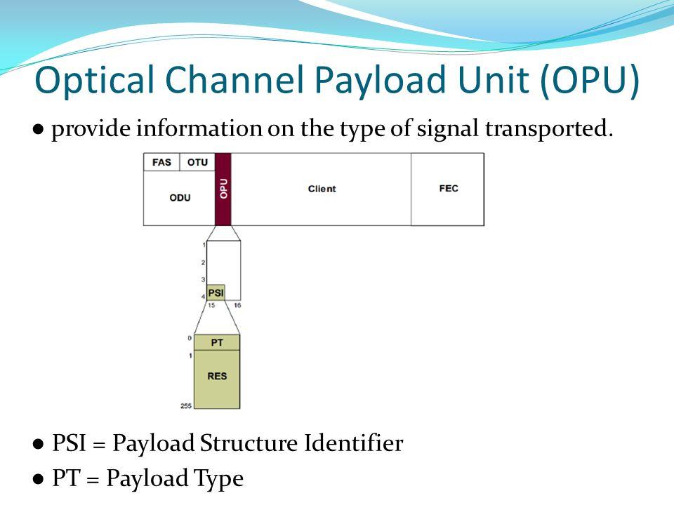 Optical Channel Payload Unit (OPU)