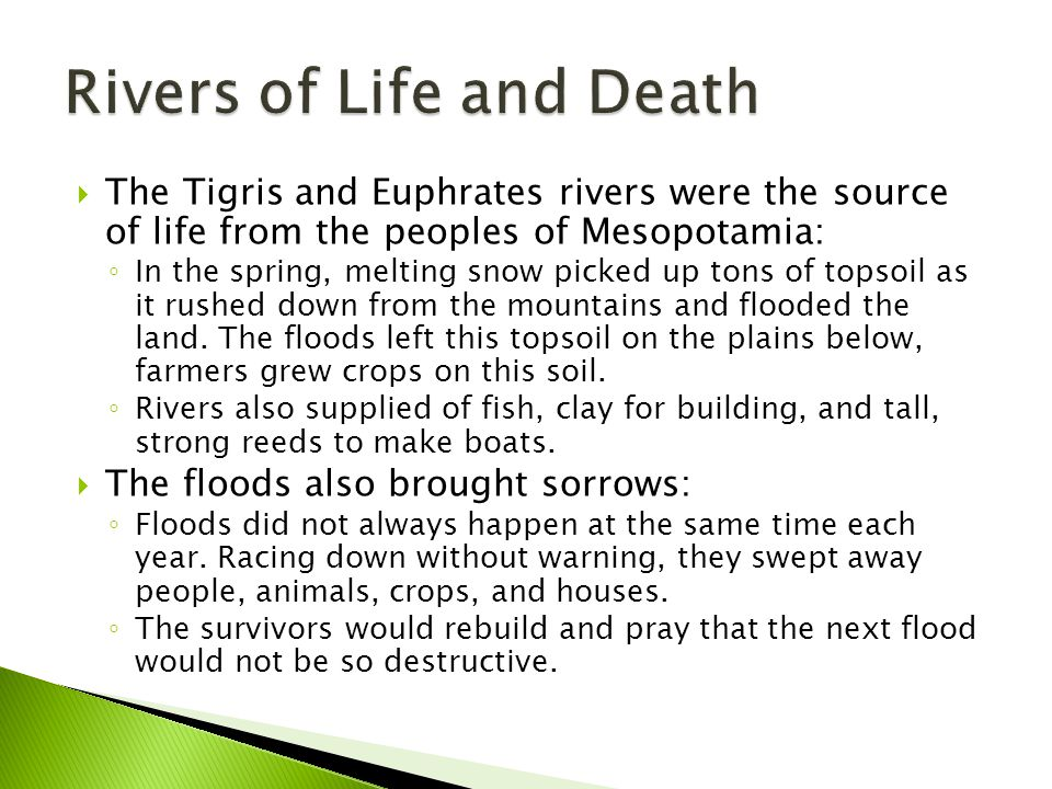 Rivers of Life and Death