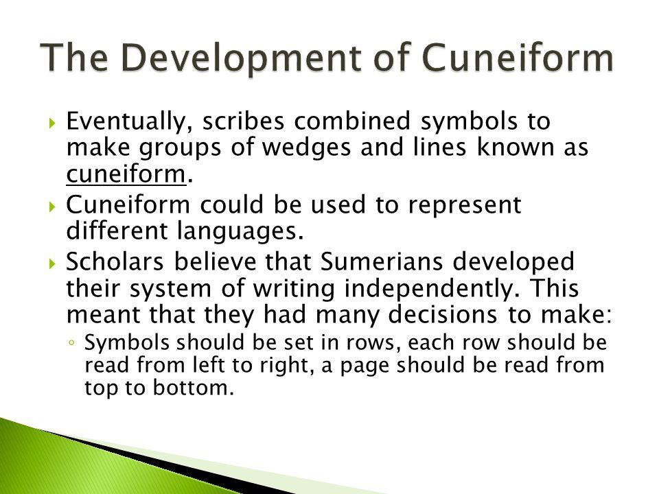 The Development of Cuneiform