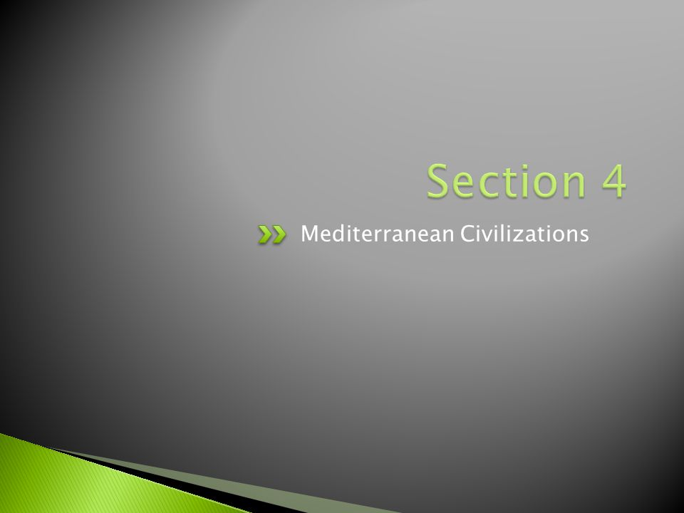 Section 4 Mediterranean Civilizations