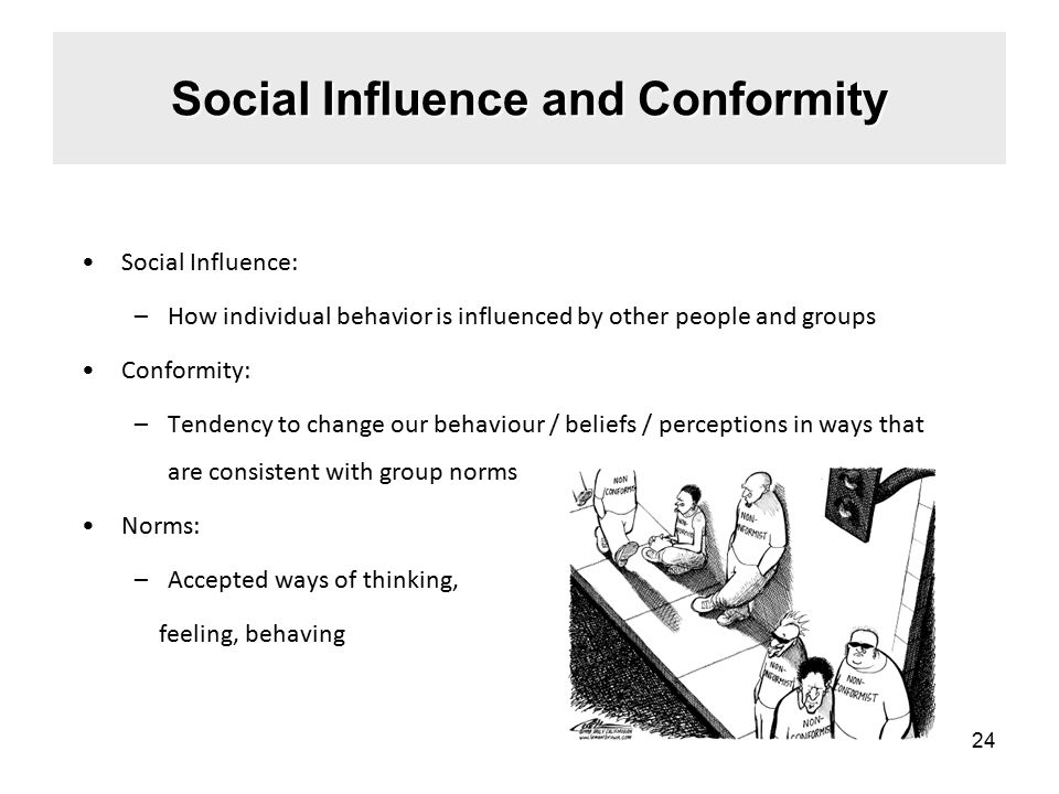 Social Influence and Conformity