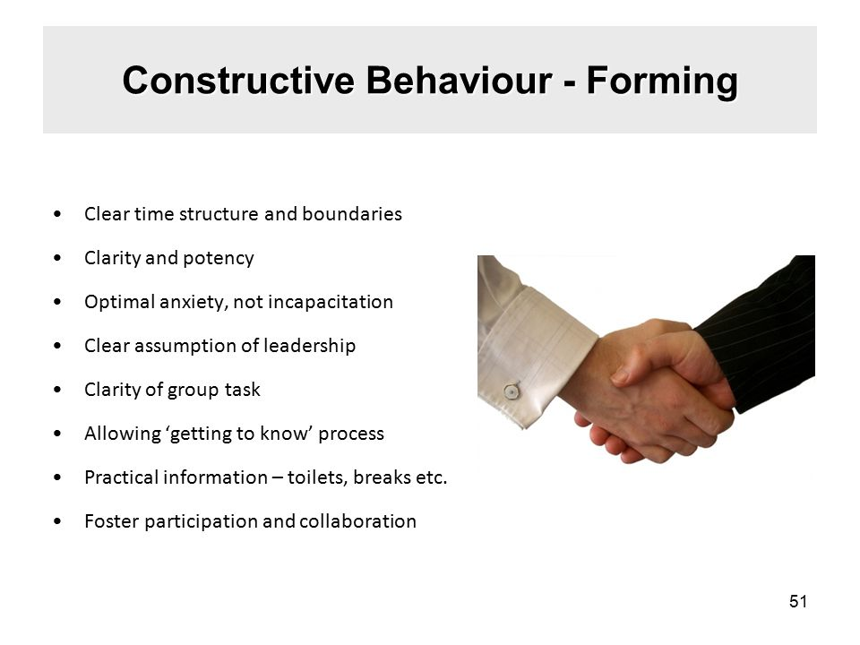 Constructive Behaviour - Forming