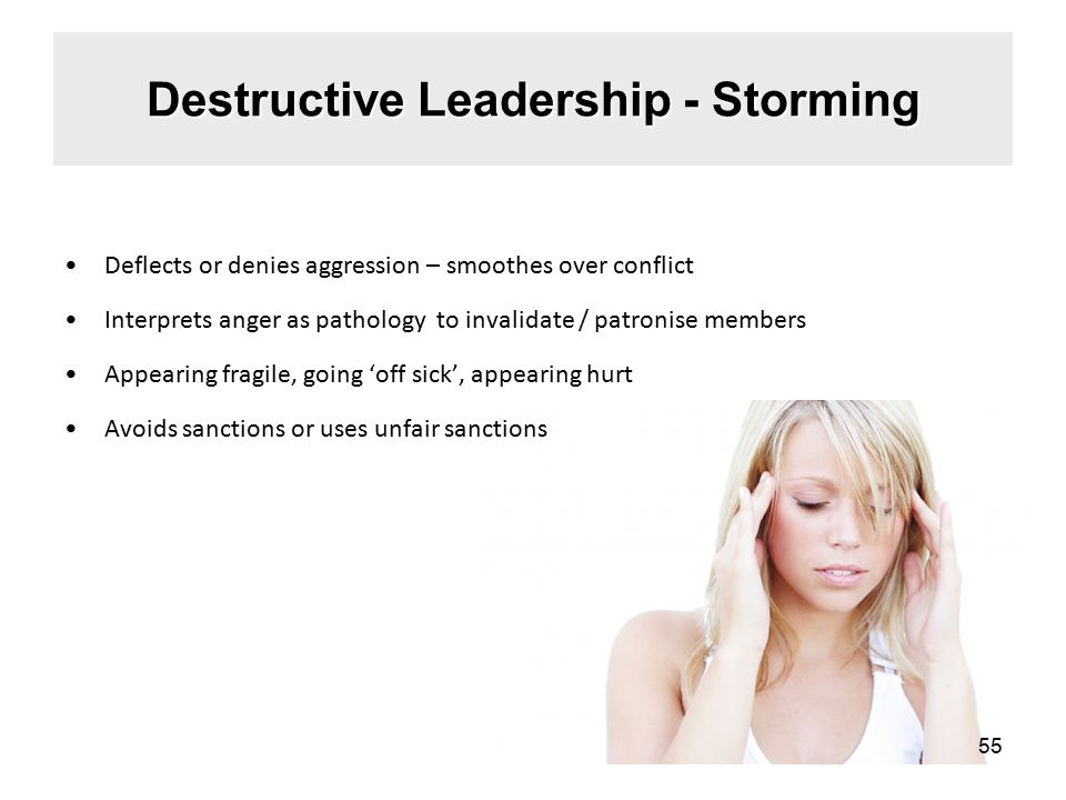 Destructive Leadership - Storming