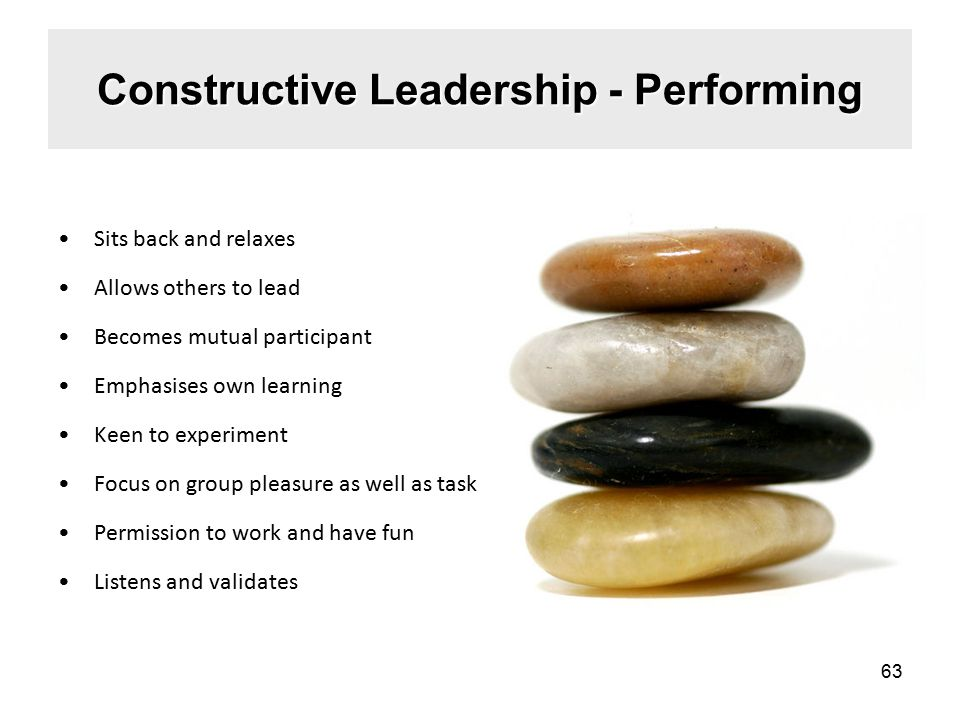Constructive Leadership - Performing