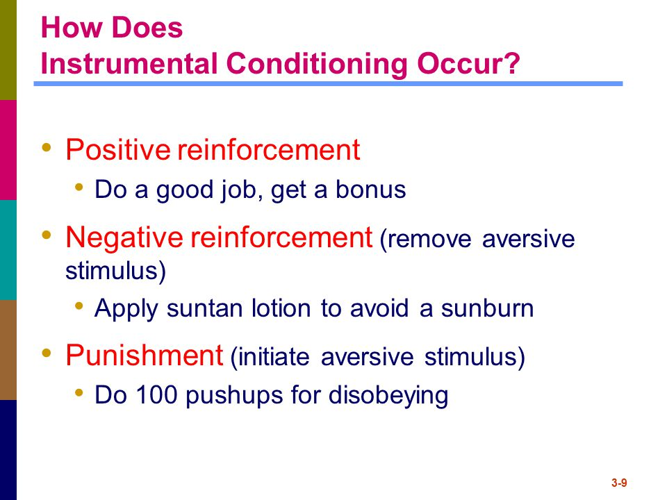 How Does Instrumental Conditioning Occur