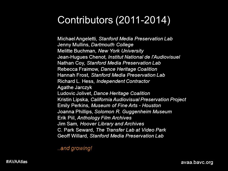 Contributors (2011-2014) ..and growing!