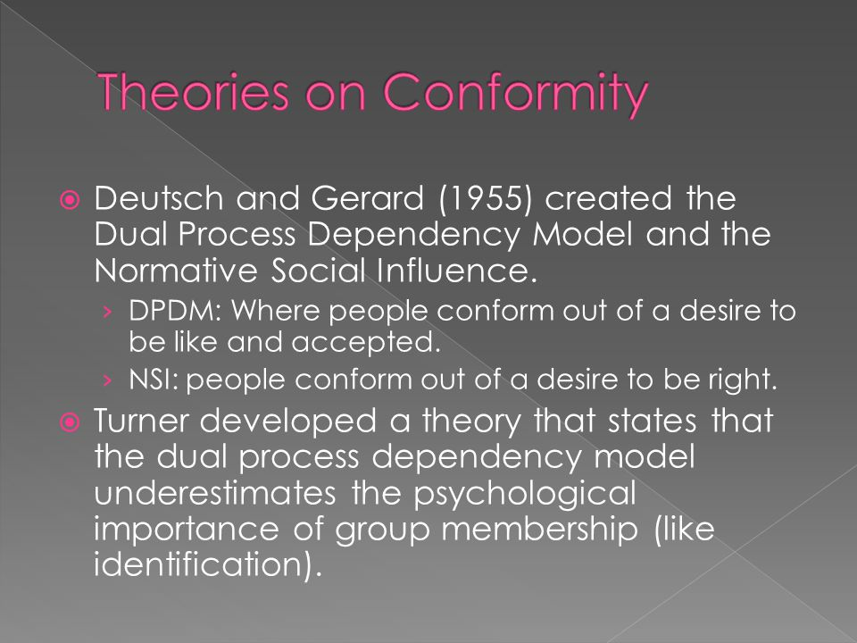 Theories on Conformity