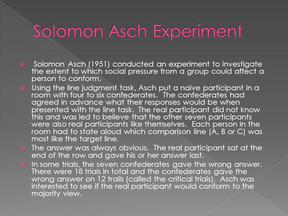 Solomon Asch Experiment