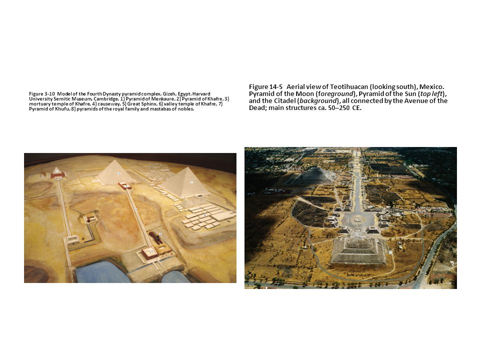 Figure 3-10 Model of the Fourth Dynasty pyramid complex, Gizeh, Egypt