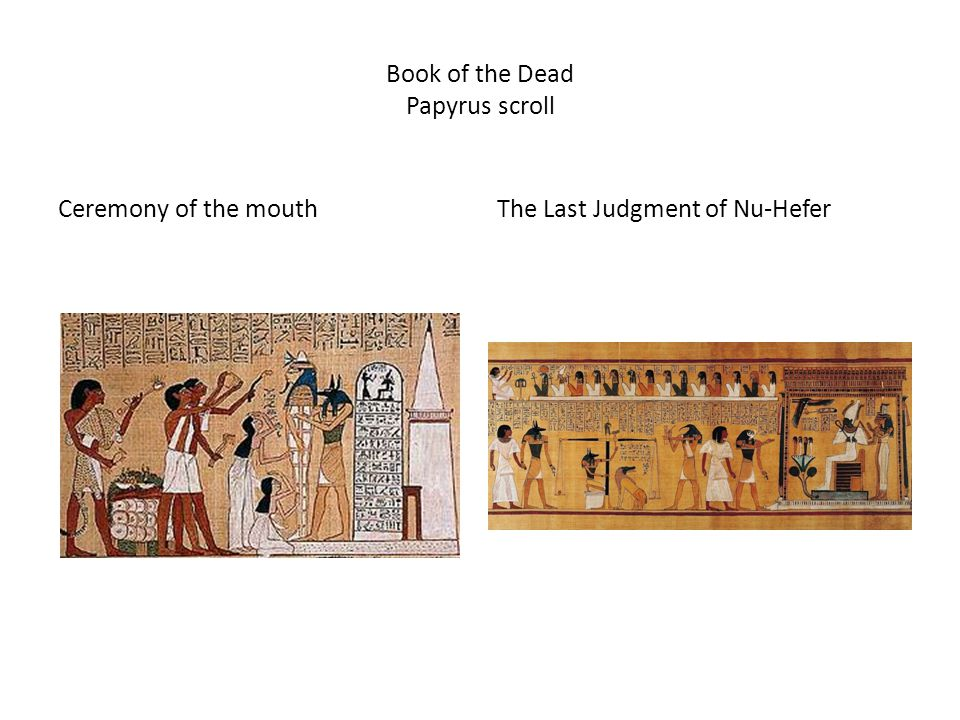 Book of the Dead Papyrus scroll