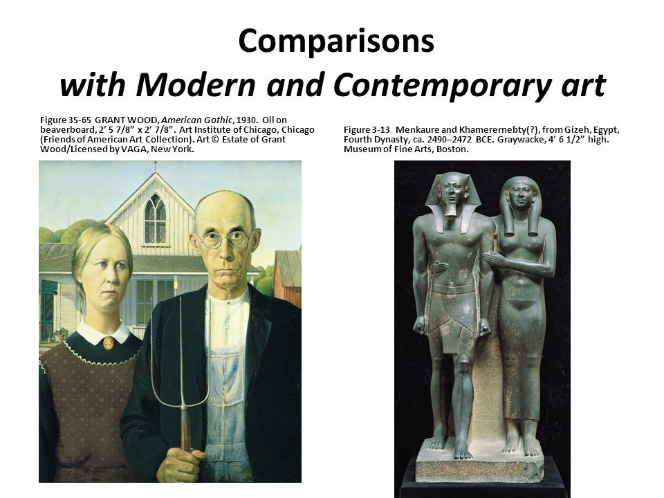 Comparisons with Modern and Contemporary art