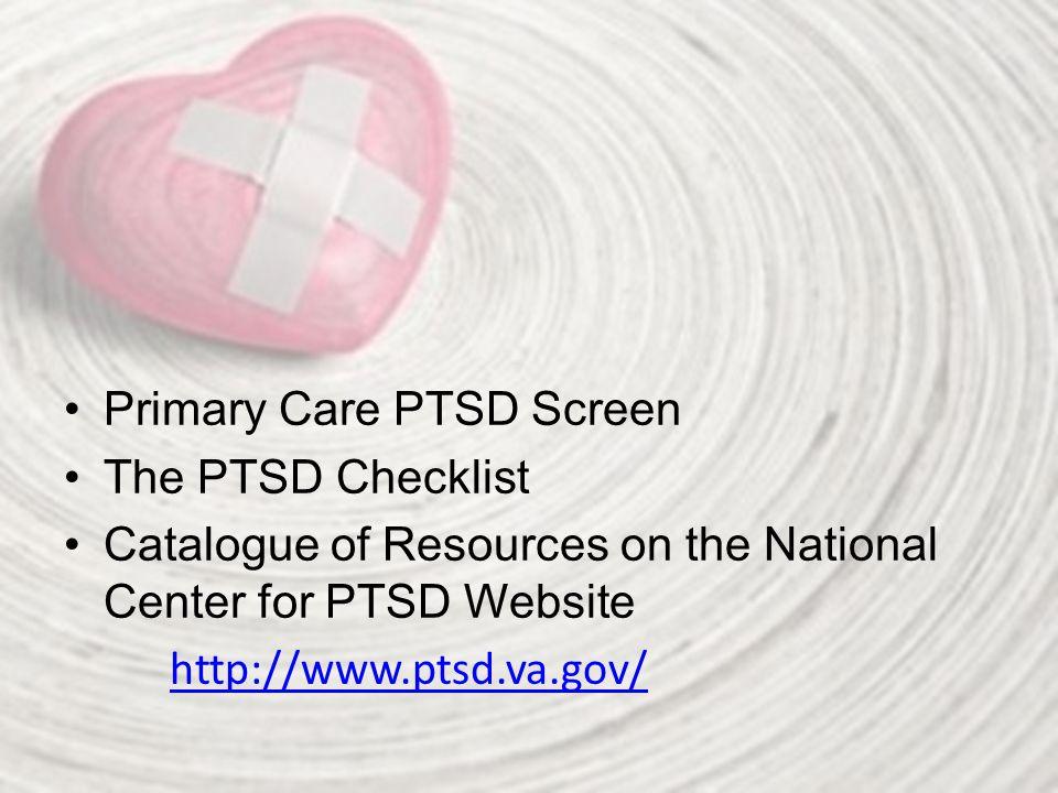 Primary Care PTSD Screen