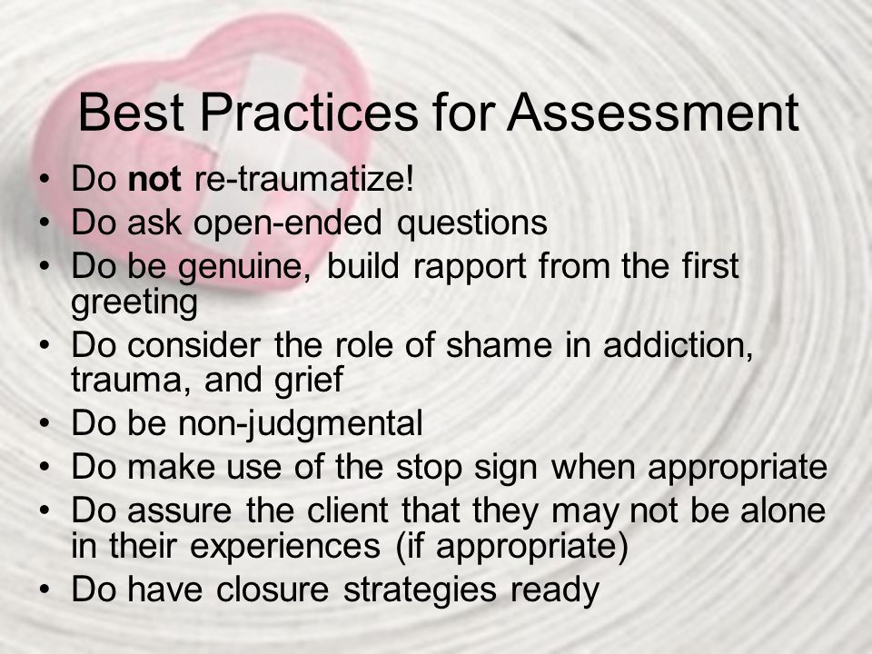 Best Practices for Assessment