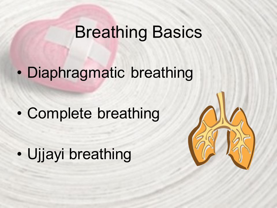 Breathing Basics Diaphragmatic breathing Complete breathing