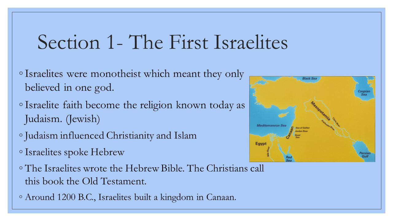 canaanite influence early israelite religion Judaism: judaism, monotheistic religion the canaanite component of israelite culture for their influence on both jewish mysticism and early.