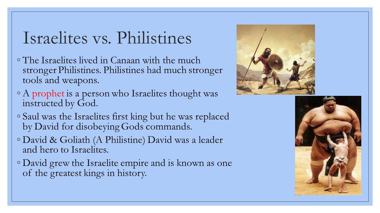 Israelites vs. Philistines