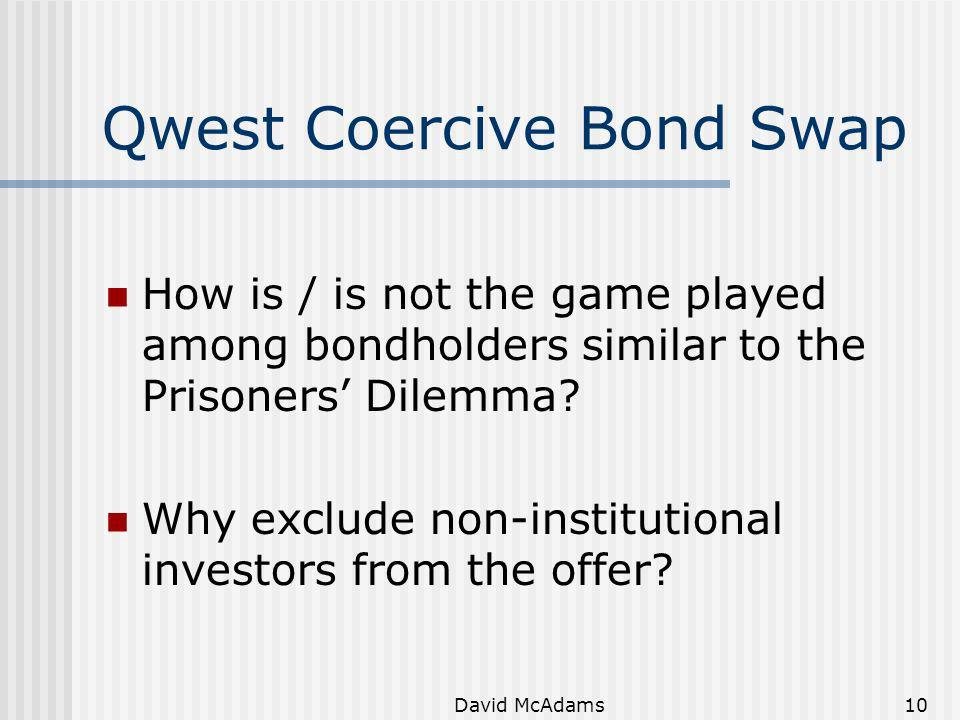 Qwest Coercive Bond Swap