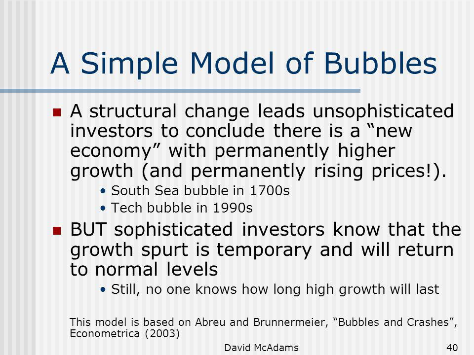 A Simple Model of Bubbles