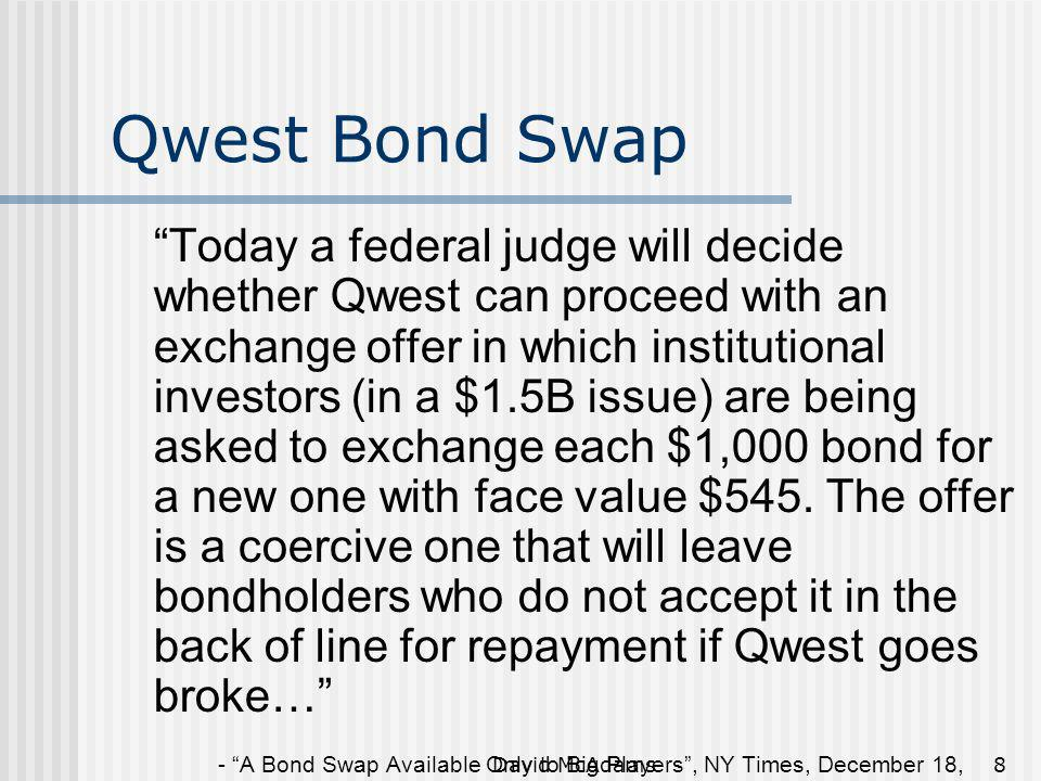Qwest Bond Swap