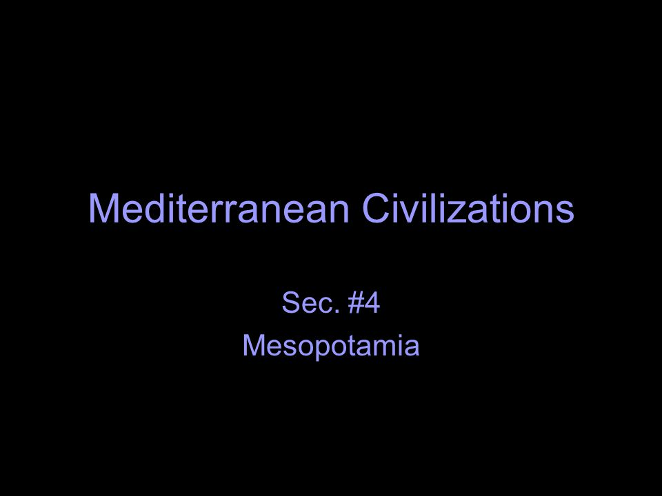 Mediterranean Civilizations