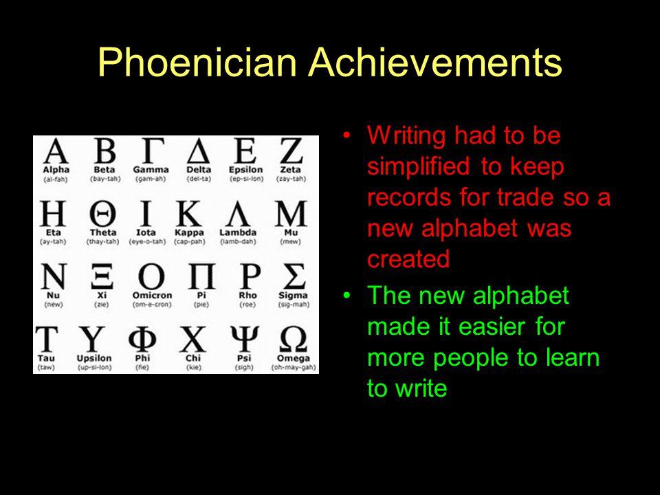 Phoenician Achievements