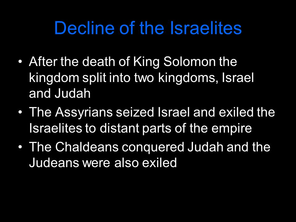 Decline of the Israelites
