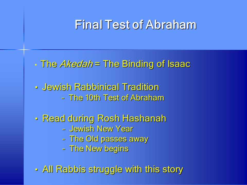 Final Test of Abraham Jewish Rabbinical Tradition