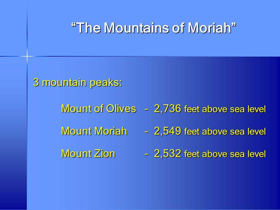 The Mountains of Moriah