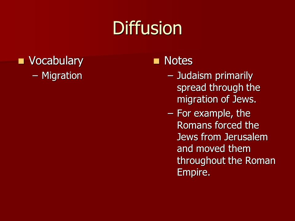 Diffusion Vocabulary Notes Migration