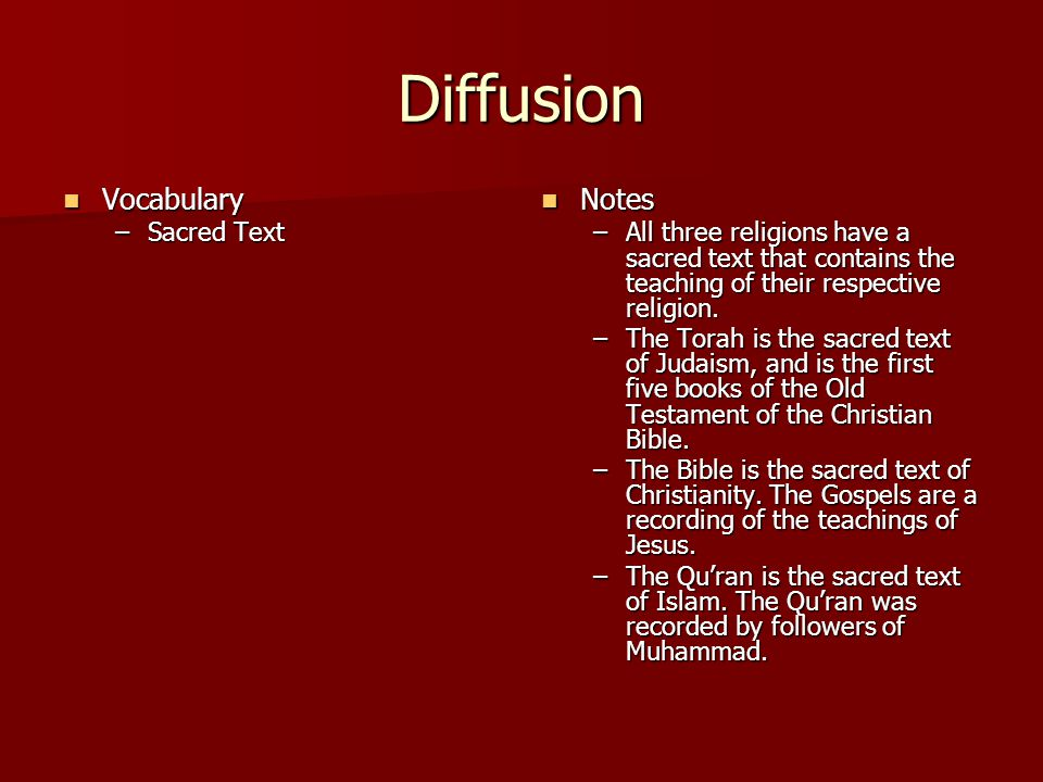 Diffusion Vocabulary Notes Sacred Text