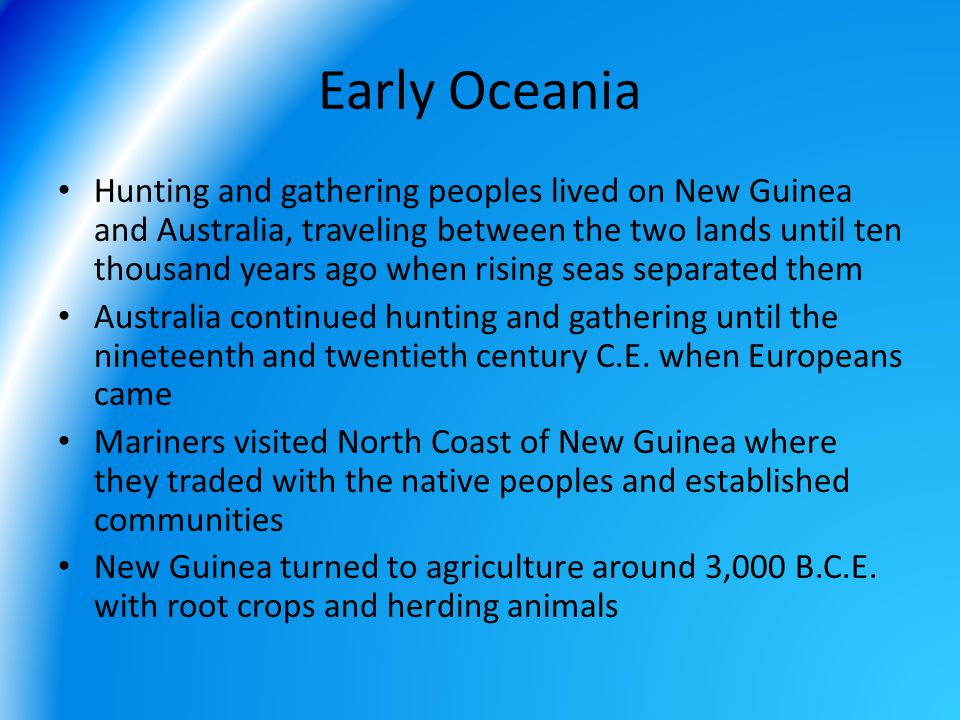 Early Oceania