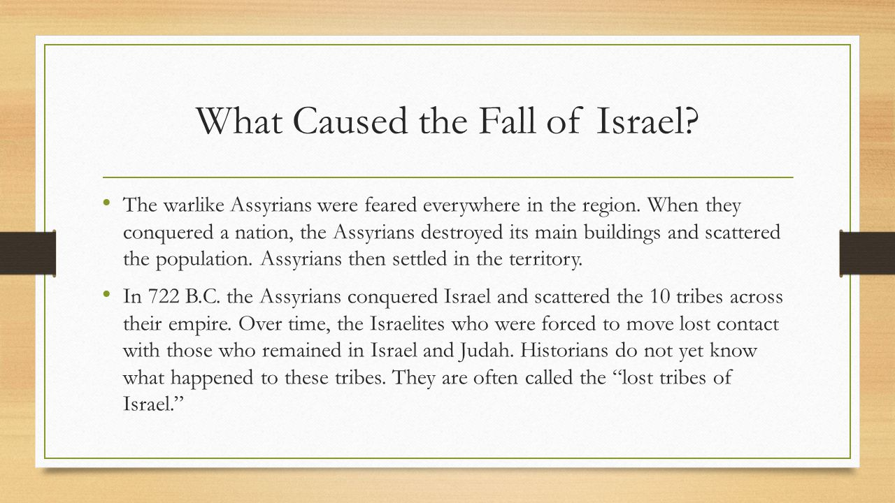 What Caused the Fall of Israel