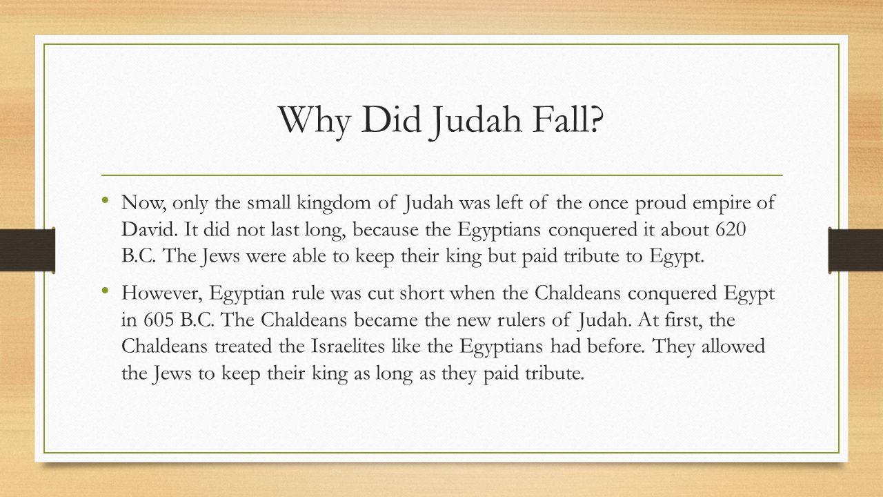 Why Did Judah Fall