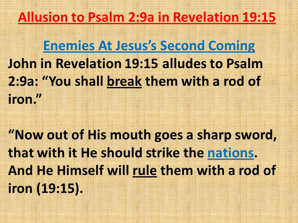 Enemies At Jesus's Second Coming