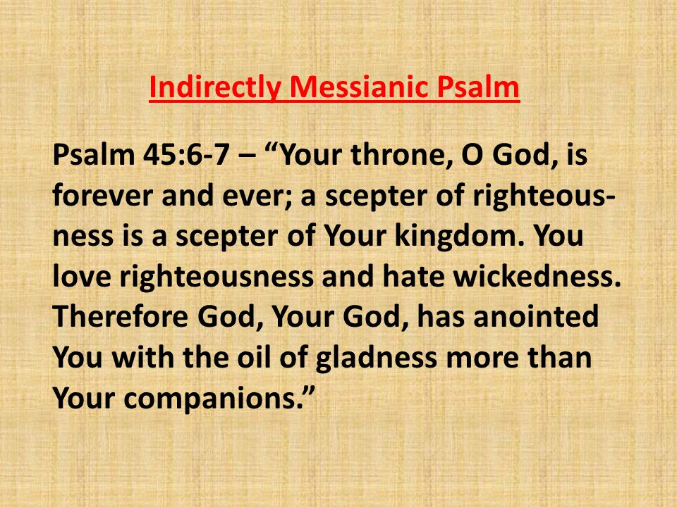 Indirectly Messianic Psalm
