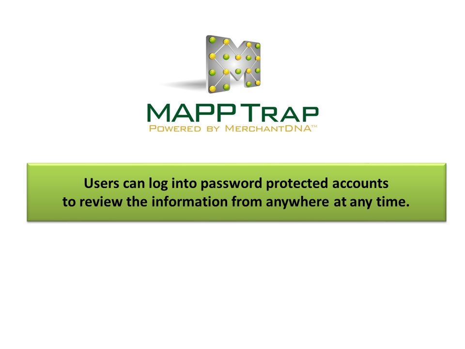 Users can log into password protected accounts