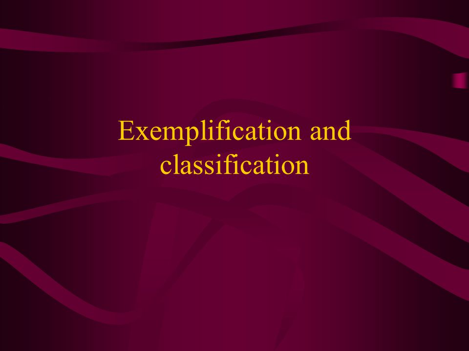 what is exemplification