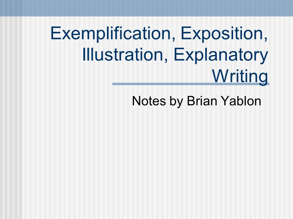The introduction of the informative exemplification essay does what