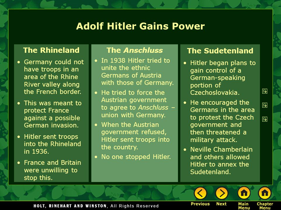 Adolf Hitler Gains Power